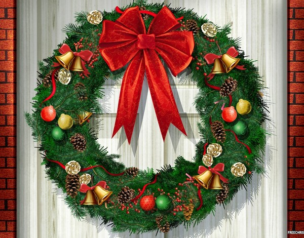wreath painting - Spanish Christmas Decorations