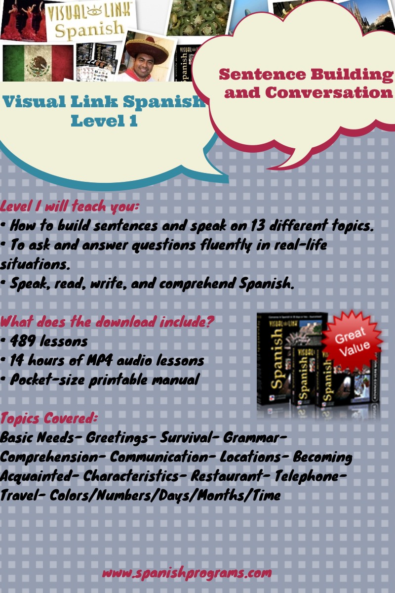 Visual Link Spanish Level 1
